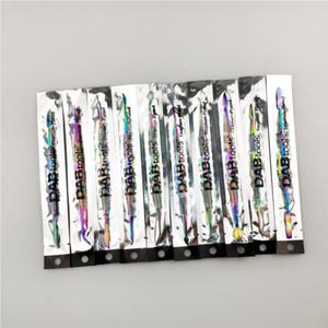DAB titanio uñas herramienta DAB 10 piezas de 7 pulgadas de titanio plateado 10 qq estilo de arco iris de color Tubos Para Bongs de cristal de cuarzo de agua Banger Nails