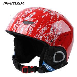 PHmax invierno para niños casco de esquí snowboard niños respirables Casco muchachas de los deportes al aire libre Mantener desgaste de esquí patinaje cabeza caliente