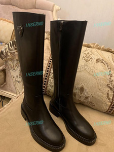 Hot sale 2019 ladies boots ladies boots autumn and winter rivet soles long style Socialite classic fashion