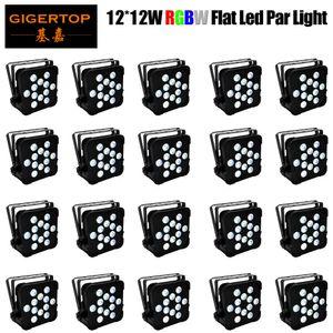 TIPTOP FREESHIPPING 20 حزمة 12x12W الاسمية RGBW LED MINI PAR يمكن سليم الخفيفة الاسمية 150W شقة صنع في الصين رباعية اللون الصين LED إضاءة المسرح