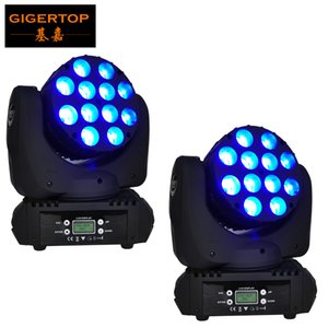 High Quality 2xLOT 12 x 12W 4IN1 Led Moving Head Light 15DMX Chs Led Moving Head Beam Light 90V-240V RGBW Led Beam Moving Head Light