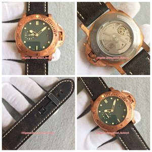 VS Factory Best Version Men's 47mm Green Dial Bronze P 00382 382 Swiss CAL.P.9000 Movement Automatic Mens Watch Watches