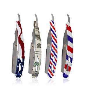 Professional Classic Shaving Razor Blade Holder Men Stainless Steel Handle Straight Edge Barber Razor Holder Folding Shaving Razor