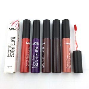 Mknk 24 cores foundatioin maquiagem matte labelo gloss não-vara copo líquido listick lipgloss rouge um levre