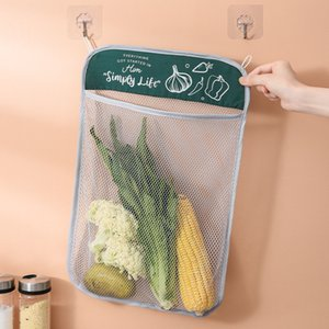 Hanging mesh Storage bag Wall good organiser in kitchen for food, sundries