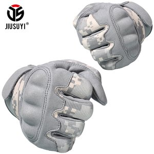ACU Camouflage Touch Screen Tactical Gloves Military Airsoft Paintball Shot Combat Anti-Skid Hard Knuckle Full Finger Gloves Men 201021