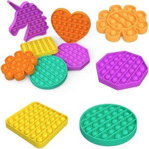 Горячая распродажа 2021 декомпрессионные игрушки сенсорное толчок поп пузырь FIDGET сенсорные игрушки аутизм беспокойство стресс подстрека для студентов офисные работники