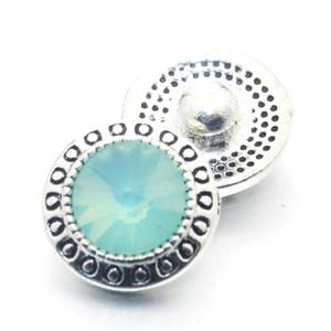10pcs lot crystal 12mm metallo scatti bottoni per braccialetto da donna in metallo bottone bottone orecchini gioielli 011611 H BbyFaf