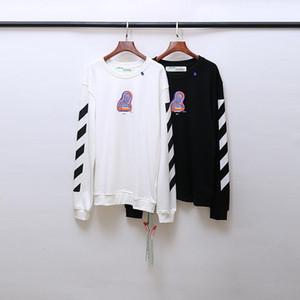 2020AW OFF otoño e invierno impresión en blanco OW deportivos casuales suelta cuello redondo con capucha los hombres y las mujeres manga larga con capucha 2027-10