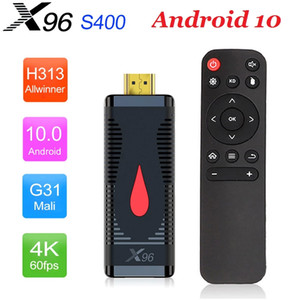 Nova TV da vara X96 S400 4K Allwinner H313 Quad Core Android 10,0 Smart TV Box 2.4G RTL8189 WiFi Set Top Box Media Player LPDDR 32bit