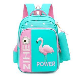 2020 Yeni Çanta İçin Çocuk Sırt Çantası Kızlar 3D Hayvan Flamingo Sırt Çantası Çocuklar Satchel Sevimli Okul Çantaları mochila Escolar Q1109