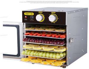 Il cibo disidratazione Dryer in acciaio inox frutta secca macchina di famiglia e commerciale cibo secco di carne e verdure Frutta secca