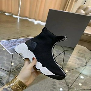 2020 speed casual men women short skirts with boxes casual socks point coach luxury sneakers socks shoes two black gold flat