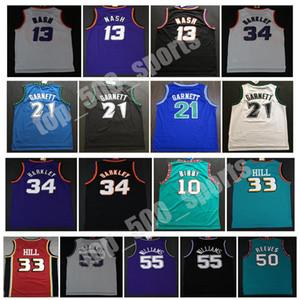 Charles 34 Barkley Jerseys Grant Steve 13 Nash Kevin 21 Garnett 33 Colina Ason 55 Williams Mike10 Bibby 50 Reeves College Basketball Jersey