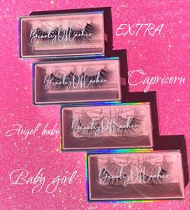 3D Faux Mink 25 mm pestañas mullidas Paquetes personalizados Glitter Caja magnética Cajas de pestañas Eyelash Distribuidores aceptan cliente DIY logo