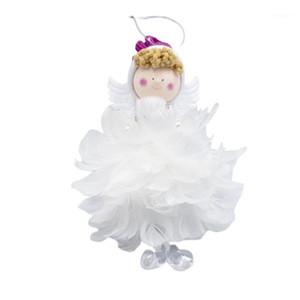 Décoration de Noël Mignon Tissu Plume Poupée Angel Pendentif Pendentif Christmas Cadeau Girl Cadeau Arbre Décorations Ornements1