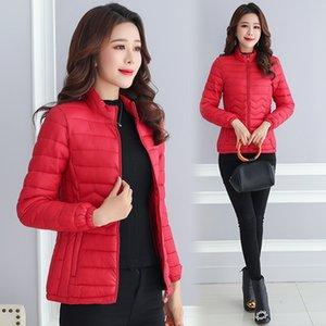 Thin Cotton Jacket Short Tops Winter Jacket Women Coat Korean Slim Plus size Female Parka Coat Wave pattern Padded Jacket 201021