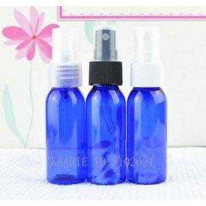 30CC 30ML 100pcs lot Blue Plastic Atomizer Bottle, Cosmetic Toner Packing Spray Bottle,Portable Round Shoulder Bottle Color