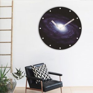Vortex Wanduhr Kreative Fenster Holz Wohnzimmer 12 cm / 30 cm Mute Uhren Raum 3D Universum Hotel Schwarzes Loch