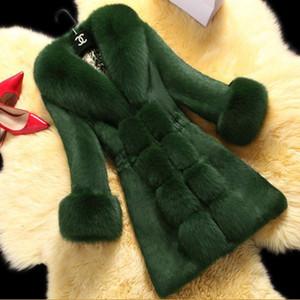 Rex Coelho Lady Mid Long 2020 Novo Produto Big Fox Collar Mink Casaco De Imitação Pele