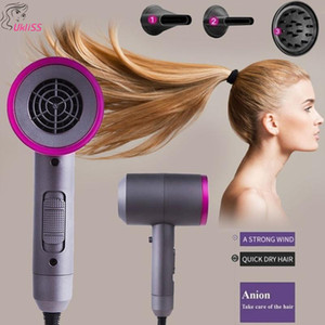 3 in 1 Professional blow dryer Hot Air Blow hot air brush Hair Dryer Mini Home & Travel Use Hair with 3 changeable nozzles