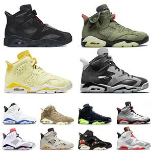 Nike Air Retro Jordan 6 Jordans Jumpman 6s Travis Scott Cactus Jack Hare Floral Il nuovo arrivo 2020 pallacanestro Scarpe donna Mens di sport degli uomini delle scarpe da tennis