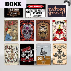 Classic Tattoo Studio Metal Tin Sign Vintage Wall Art Painting Plaque Tattoo Shop Antique Room Decoration Parlor Home Decor