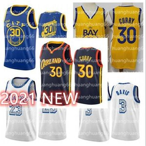 Hommes Curry Jerseys 30 Stephen James 33 Wiseman Golden