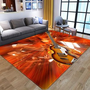 Creative Flame Guitar Pattern Carpets for living Room Bedroom Area Rugs Child Room Play Mats Custom Logo 3D Printing Home Carpet