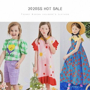 ZMHYAOKE 2020 New Girl's Lapel Dress Summer Girl Baby Cute Plaid Drsss with The Same Daisy Knitted Girls Dresses Princess Dress xbzi#
