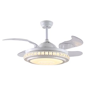 Modern Style Smart Ceiling Fan Light Creative Study Bedroom Dinner 3 Colors Led Fan Light With Remote Control