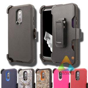 LG Stylo 4 Cep Telefonu Kılıfı Ağır Zırh Çift Katmanlı Tam Vücut Koruyucu Darbeye Spor Anti-Çizikler Tampon Sağlam Durumda Stylo 4