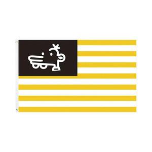 Nouveau drapeau américain Manny 3x5 FT Double Brochage Bannière 90x150cm Parti cadeau 100D Polyester imprimé Vente chaude!