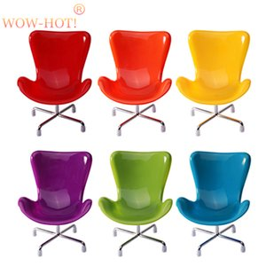 6pcs lot Plastic Fashion Doll Chairs,6 Colors Mixed 1 6 Doll Accessories,Dollhouse Furniture Toys Chair for Blythe BJD Dolls 201013