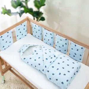 Cartoon-Stoßfänger in der Krippe für Neugeborene Baby 6pcs / set Baumwolle Babydekoration Zimmer Bett Bumper Kinder Bett Bettwäsche Set Cribel Sachen BTNF #