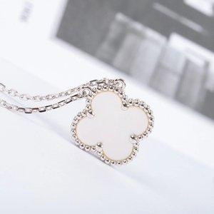 Collana lussuosa qualità ciondolo 1,5 centimetri con guscio bianco e viola giada color platino per le donne di nozze regalo gioielli PS3 trasporto libero