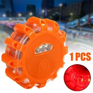 8 15LED Flash Emergency Lamp Disc Beacon Warning Light Magnetic Base Roadside Flare Car Portable Breakdown Signal Light Strobe 8
