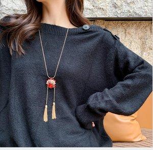 Новое поступление Китайский стиль Пекин оперный макияж Palace свитер цепи длинные осенью и зимнее украшение ожерелье нож лошади DAN NET RE