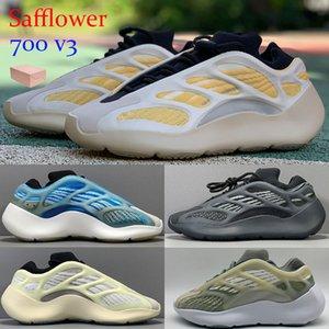 De calidad superior 700 V3 cártamo Azarath Kanye West reflexivo zapatillas brillan en la oscuridad zapatillas de deporte Azael Alvah corredor OG baloncesto con la caja