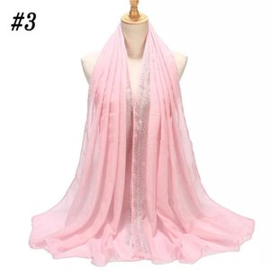 2021 Cotton women scarf Crystal long wrap light shawl scarfs 22 colors Free shipping