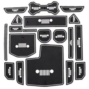 19pcs gate slot pad tazza tappetini per porte tappetini antiscivolo per wrangler jl 2020 2020 auto accessori interni1