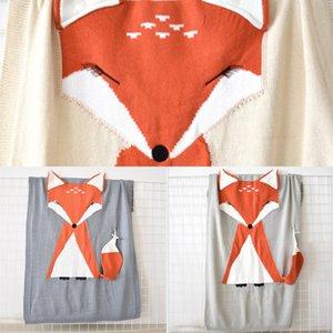 FOX Literie Couverture souple Animal Animal Ticencière Swaddle Swaddle Swaddle Baby Toddler Enfants Serviette en laine de laine Nouveau------né Quilt W1218