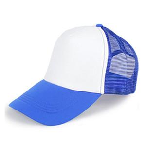 Cheap Advertising Custom Sublimation Hat Blanks Kids Cotton Baseball Mesh Cap Hat for Sublimation Printing