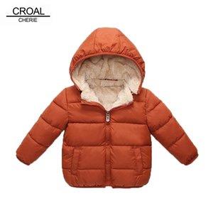 CROAL CHERIE Children's Parkas Winter Jacket For Girl Boys Winter Coat Kids Warm Thick Velvet Hooded Baby Coats Outerwear 90-130 201127
