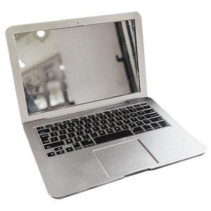مرآة الإبداعية البسيطة المحمولة ماكياج مرآة عالية الجودة شخصية شكل كمبيوتر محمول قابل للطي الغرور مرآة 10.5 * 7.5 سنتيمتر