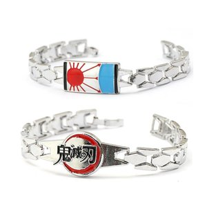 Anime Demon Slayer Kimetsu No Yaiba Bracelets For Men Bangle Metal Anime Kamado Tanjirou Bracelet femme Fashion Jewelry pulseras