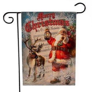 Noel Asılı Flag Flax Santa Kapı Banner Merry Christmas Ev Noel Hediye Için Açık Süs Noel Süslemeleri HWB2500