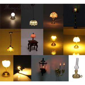 MagiDeal 1 12 Dollhouse Miniature Ball Shape Table Lamp LED Light for Livingroom Bedroom Bathroom Kitchen Kids Pretend Play Toy Y200428