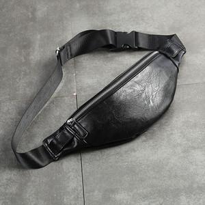 PU Couro Bloco de Fanny Men cintura Bag Moda ajustável Bag Belt Masculino Heuptas alta qualidade Bum Banana Banana Sac