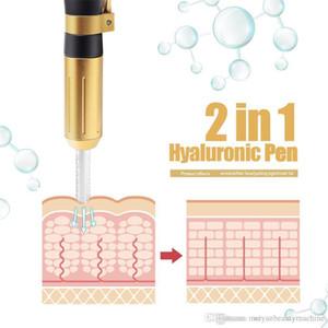 New 2in1 Meso Injection Gun Hyaluron Pen 0.3ml&0.5ml Head Gold Hyaluronique Acid Pen Lip Filler Jnjector Noninvasive Nebulizer Free shipping